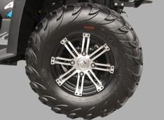 25 литые диски и шины с грязевым рисунком