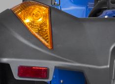 Полный комплект светооптики. Поворотники и стоп-сигнал интегрированы в задние крылья